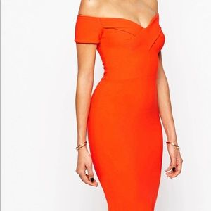 River Island Off Shoulder Body Conscious Dress